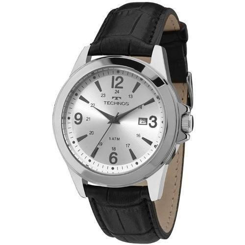 cf3af96f5f9 Relógio Technos Masculino Aço Pulseira De Couro Com Garantia - R  201
