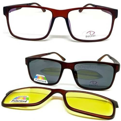 4cb37e0948583 Armação De Óculos P  Grau Sol E Noite Completo Clip On 3 Em1 - R  120