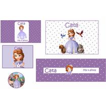 Princesita Sofia Stickers- Envoltorios- Kit Imprimible