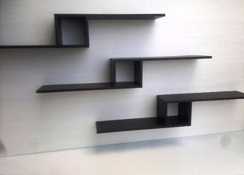 Juego de repisas flotantes minimalistas modernas bs 90 - Repisas de pared modernas ...