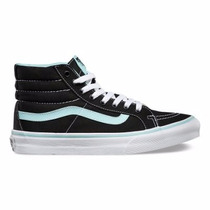 Tenis Vans Skate Bota Negra/azul, Unisex
