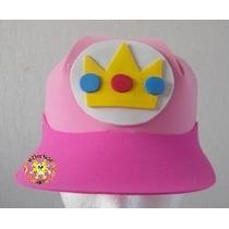 Paquete 5 Gorras Foami Fomi Disfraz Mario Bros