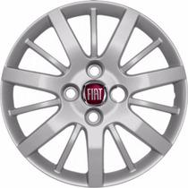 Jogo Calota Aro 14 Fiat P/roda Palio,siena 2009 2010+emblema