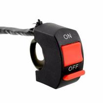 Interruptor Para Moto On Off Botão Bicicleta Motor