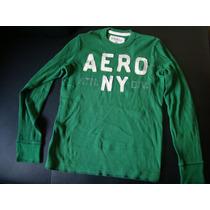 Sweater Aeropostale Original Talla S/p Nuevo Color Verde