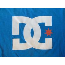 Remera Dc Talle L Azul Francia 100% Algodón. Impecable