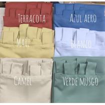 Cortina Blackout Textil 2 Paños 1,45 X 2 Mts Lista P/ Colgar
