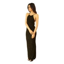 Vestido Largo Elastizado, Espalda Descubierta, V-0018