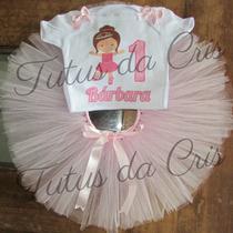 Fantasia Tutu Infantil Bailarina Personalizada De 1a8 Anos