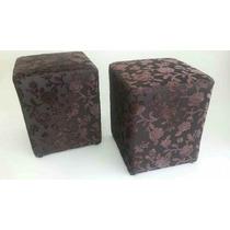Puff Puf Quadrado Decorativo Tecido Floral Homero Brito