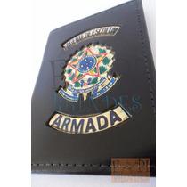 Carteira Couro Tipo Distintivo Agente De Escolta Armada P06p