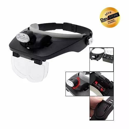 Óculos Lupa De Cabeça Profissional 3 Led Reguláveis 4 Lentes - R  51,90 em  Mercado Livre 3406317abe
