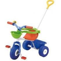 Triciclo De Caño Rondi Azul Con Aro Sujetador Y Barral 3075