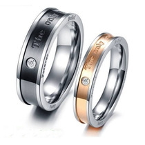 Anillos Para Parejas The Only Eternal Love, Titanio
