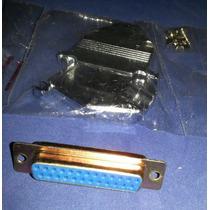 Conector Db25 Hembra Soldar Con Cubierta Metalica