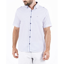 Camisa Social Manga Curta Slim - Jcanedo