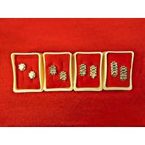 Aretes Rolex De 14 Klts En Oro Laminado