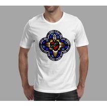 Camiseta Católica Sagrado Coração De Jesus Rcc Masc Fem Inf