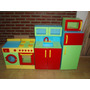 Mueble Infantil Heladera + Alacena Pintados