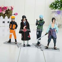 4 X Bonecos Action Figure Naruto Sasuke Hatake Kakashi 12cm