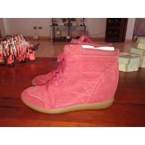 Botín 100% Cuero (reno) Color Rojo Marca Skechers N°39
