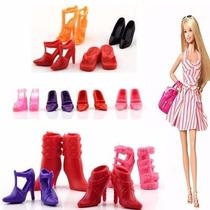 Lindo Kit Com 12 Pares Sapato Barbie Não Repete Modelos