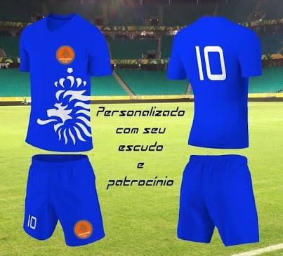 Jogo De Uniformes Personalizados Para Futebol - R  85 36f0a08599e18