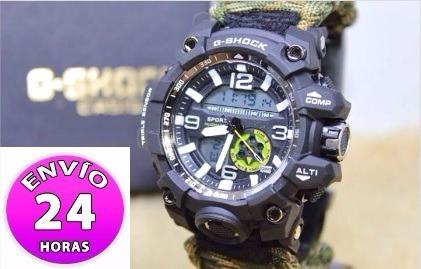 6ffe9d08e5d Relógio G-shock Da Sobrevivência Militar 6 Em 1 Camuflado - R  130 ...