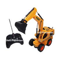 Trator Escavadeira 40 Cm Controle Remoto Com Som 6 Funções