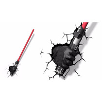 Star Wars Darth Vader Sable Láser Lámpara De Pared 3d