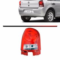 Lanterna Traseira Gol G4 Re Cristal Aba Vermelha Esquerdo