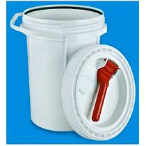 Cubeta 19 Lts Tapa Rosca Reutilizable Fda Todo Uso, Plastico