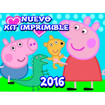 Kit Imprimible Peppa Pig La Cerdita Personalizable Y Mas