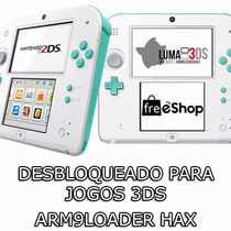 2ds Com Arm9loader + Luma3ds + Freeshop + Case De Brinde