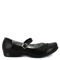 Zapato Escolar Negro Piel Cómodos Num 25 Mexicano Casual