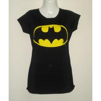 Blusa Camiseta Batman Classic Negra Oficial Dc Comics