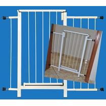 Portão Grade Proteção Porta Crianças Pets Cães 89 Cm A 94 Cm
