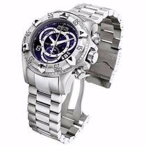 Relógio Invicta 5526 Excursion Reserve Prata Fundo Azul Top!