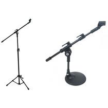 Pedestal P/ Microfone De Bumbo Sm20p Mini Girafa + 1 Pmv01p