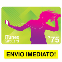 Itunes Gift Card $75 - Cartão Pré Pago - Iphone Ipad Itunes