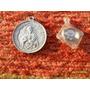 Antigua Medalla En Aluminio Religiosa Jesús Santa Lucia Papa