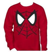 Blusa Moleton Infantil Herois Homem Aranha Escudo 2 A 6 Anos
