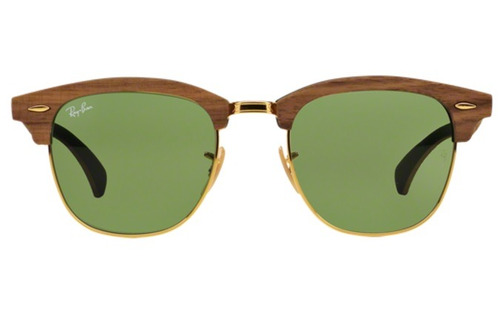 5676add2049 Óculos De Sol Ray Ban Clubmaster Wood Rb3016m 11824e Madeir - R  649 ...