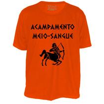 Camiseta Percy Jackson Acampamento Meio Sangue