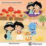 Kit Imprimible Princesa Jasmine Aladdin Imagenes Clipart