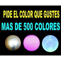 Esfera D Fibra D Vidrio Traslucida 120 Cm Azul,envio Gratis