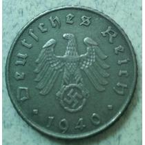 Moneda Nazi 3er. Reich Alemania 5 Reichspfennig 1940 Km#100
