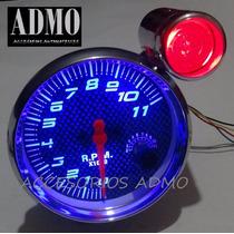 Tacometro Cromado Fondo Carbon Shif Light Rpmtuning Auto