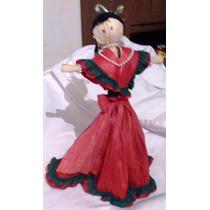 Muñeca De Hoja De Maíz Totomoxtle. 25 Cm, Artesanía Tlaxcala