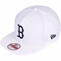 Bone New Era Original Importado Boston Branco Fitão Strapbac